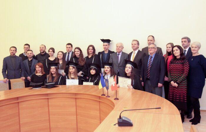 Випускників  ФСП привітав Надзвичайний і Повноважний Посол Швейцарії в Україні Клод Вільд
